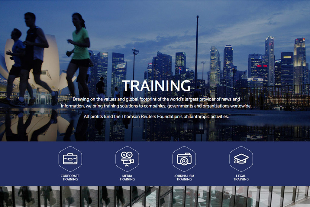 Thomson Reuters Training webpage